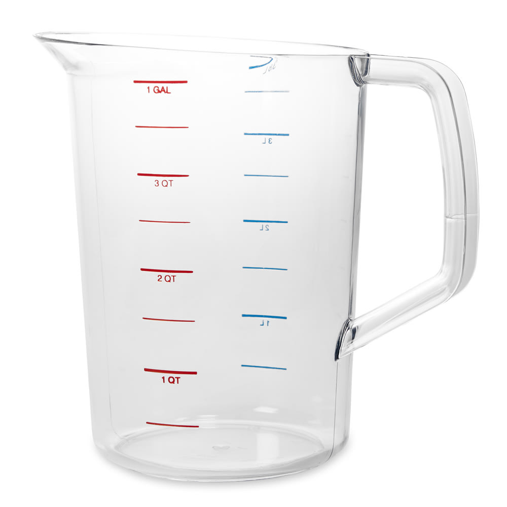 Rubbermaid FG321800CLR 4 qt Bouncer Measuring Cup - Clear Poly