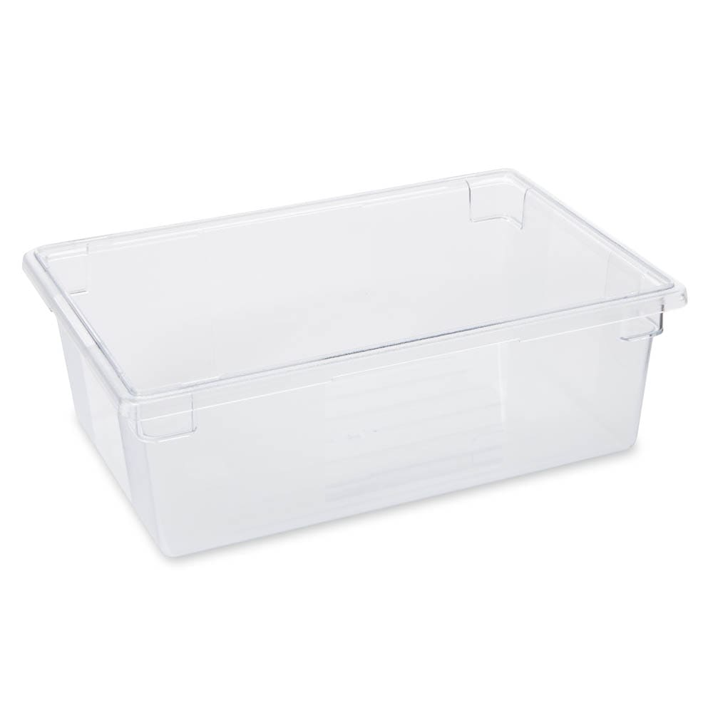 Rubbermaid FG330000CLR 12-1/2-gal Food/Tote Box - Clear Poly