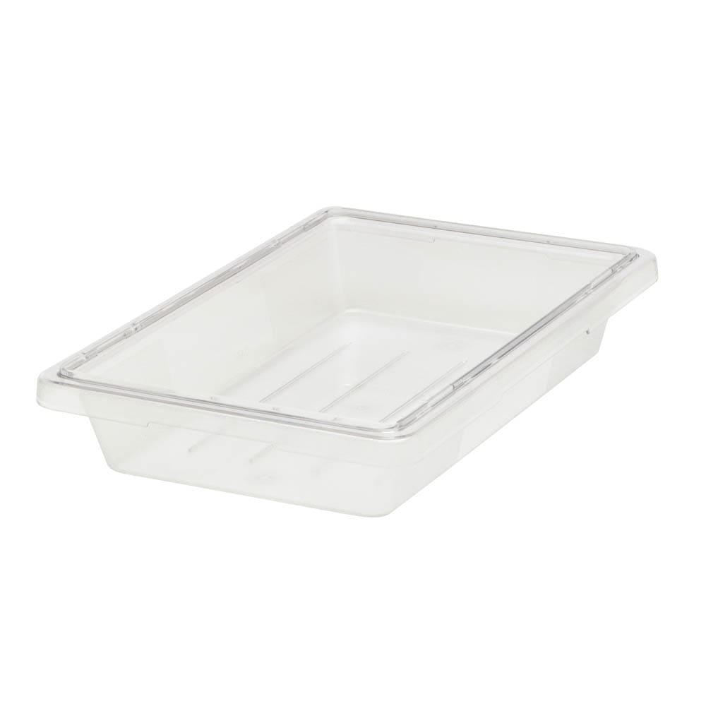 "Rubbermaid FG330400CLR 5 gal Food/Tote Box - 18x12x9"" Clear Poly"