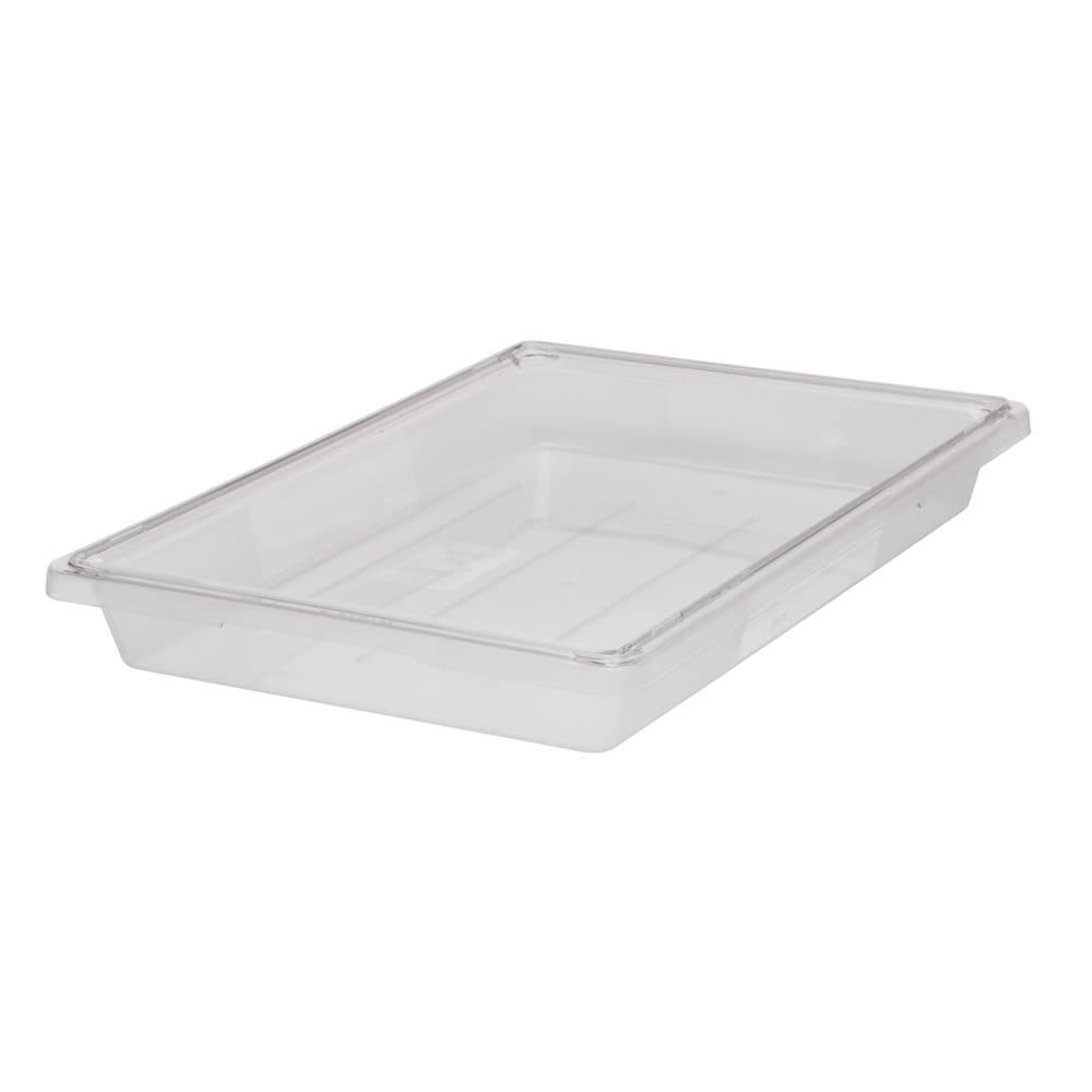 """Rubbermaid FG330600CLR 5-gal Food/Tote Box - 26x18x3-1/2"""" Clear Poly"""