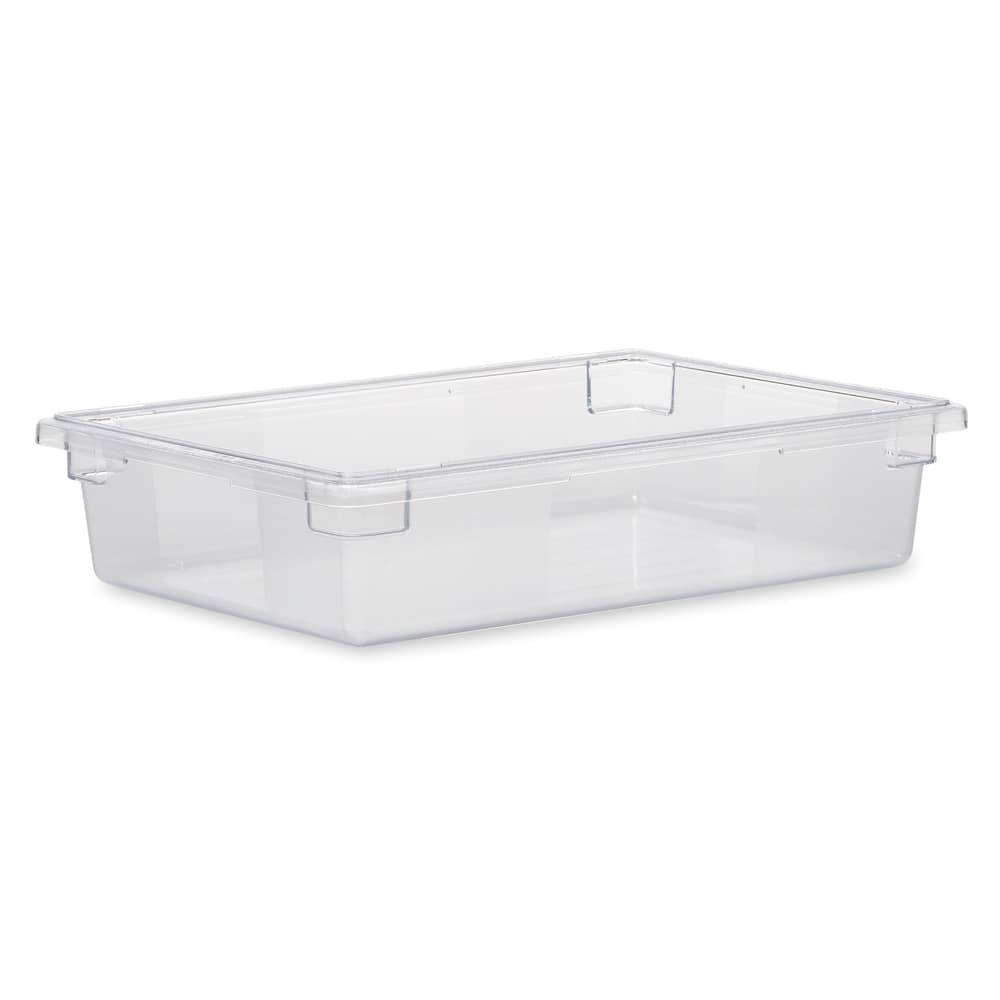 "Rubbermaid FG330800CLR 8 1/2 gal Food/Tote Box - 26x18x6"" Clear Poly"