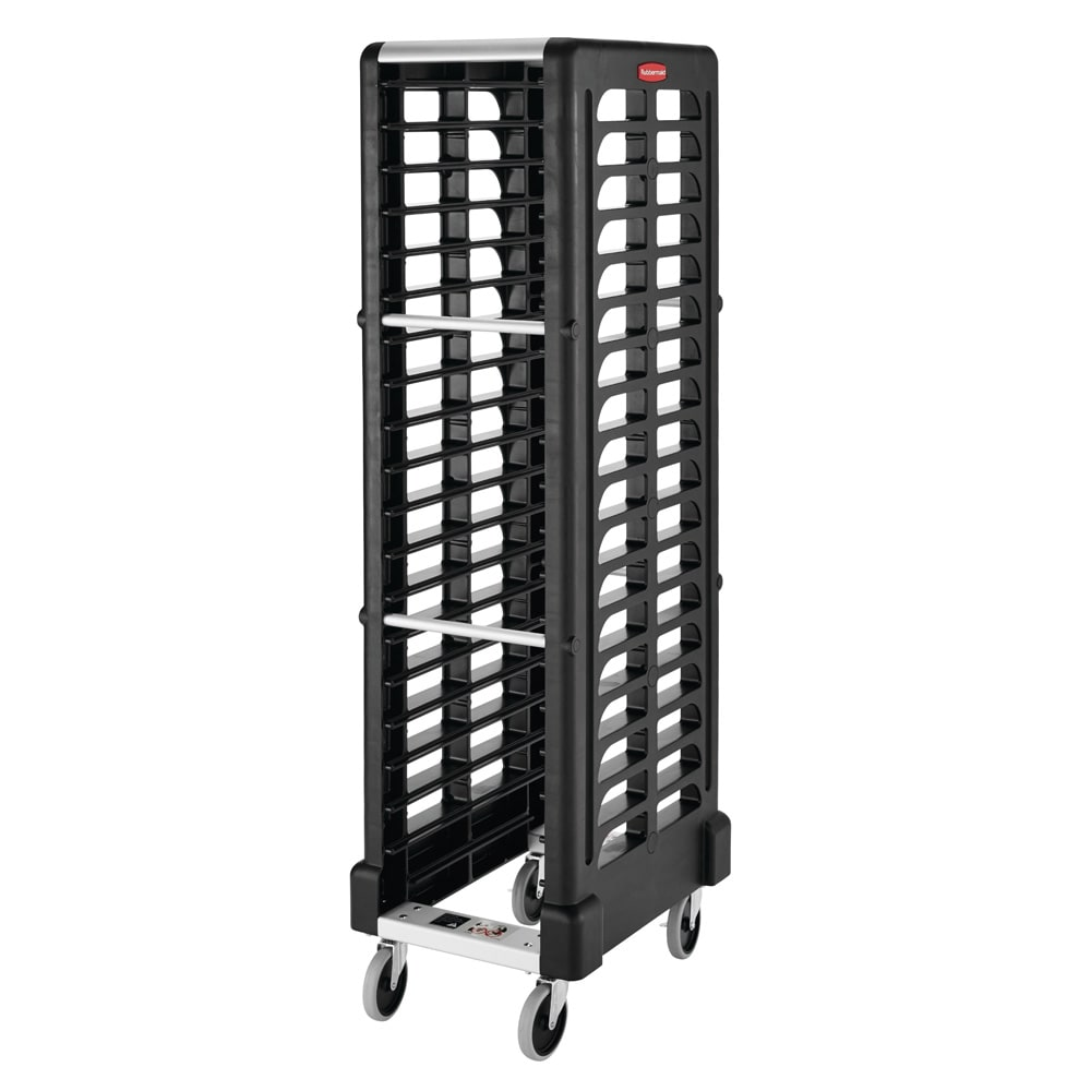 "Rubbermaid FG331700BLA 18.625""W 18-Sheet Pan Rack w/ 2"" Bottom Load Slides"