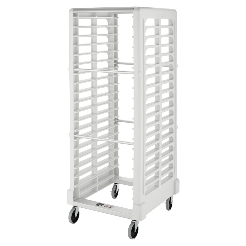"Rubbermaid FG332400OWHT 28.75""W 18-Sheet Pan Rack w/ 2"" Bottom Load Slides"