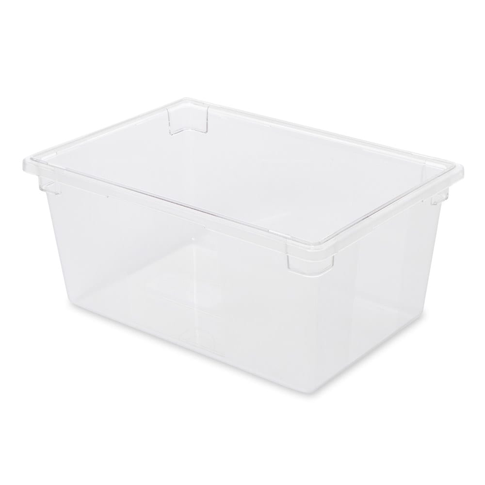 "Rubbermaid FG332800CLR 16-5/8-gal Food/Tote Box - 26x18x12"" Clear Poly"