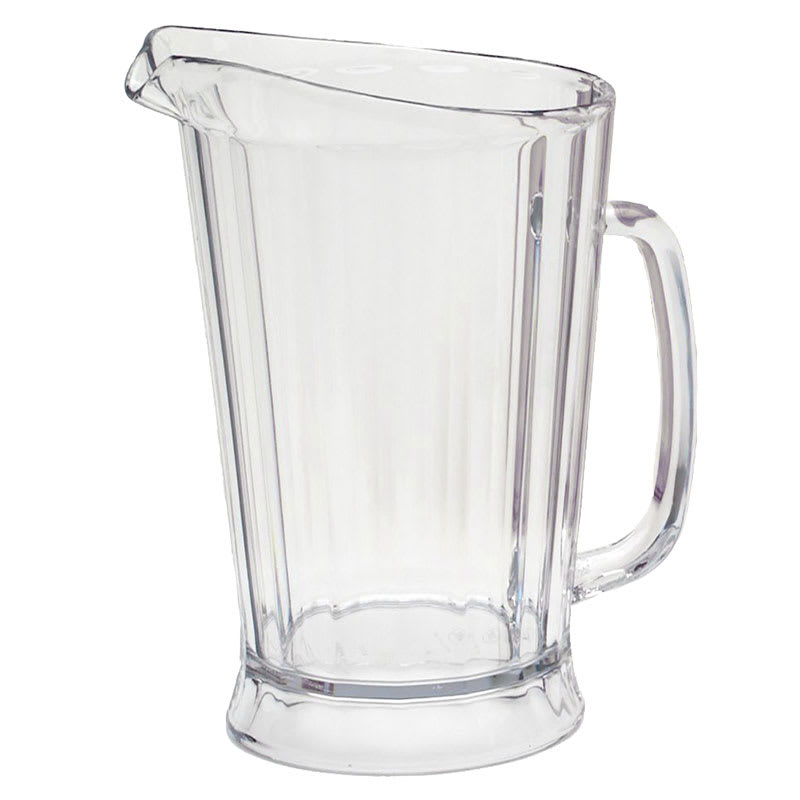 Rubbermaid FG333100CLR 48 oz Bouncer II Pitcher - Clear Poly
