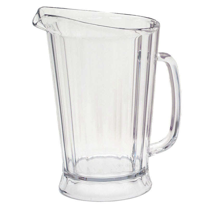 Rubbermaid FG333400CLR 60 oz Bouncer II Pitcher - Clear Poly