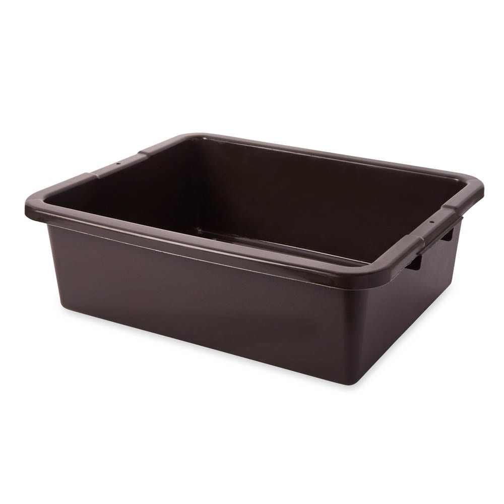 "Rubbermaid FG335100BRN 7-gal Bus/Utility Box - 21-1/2x17-1/8x7"" Brown"