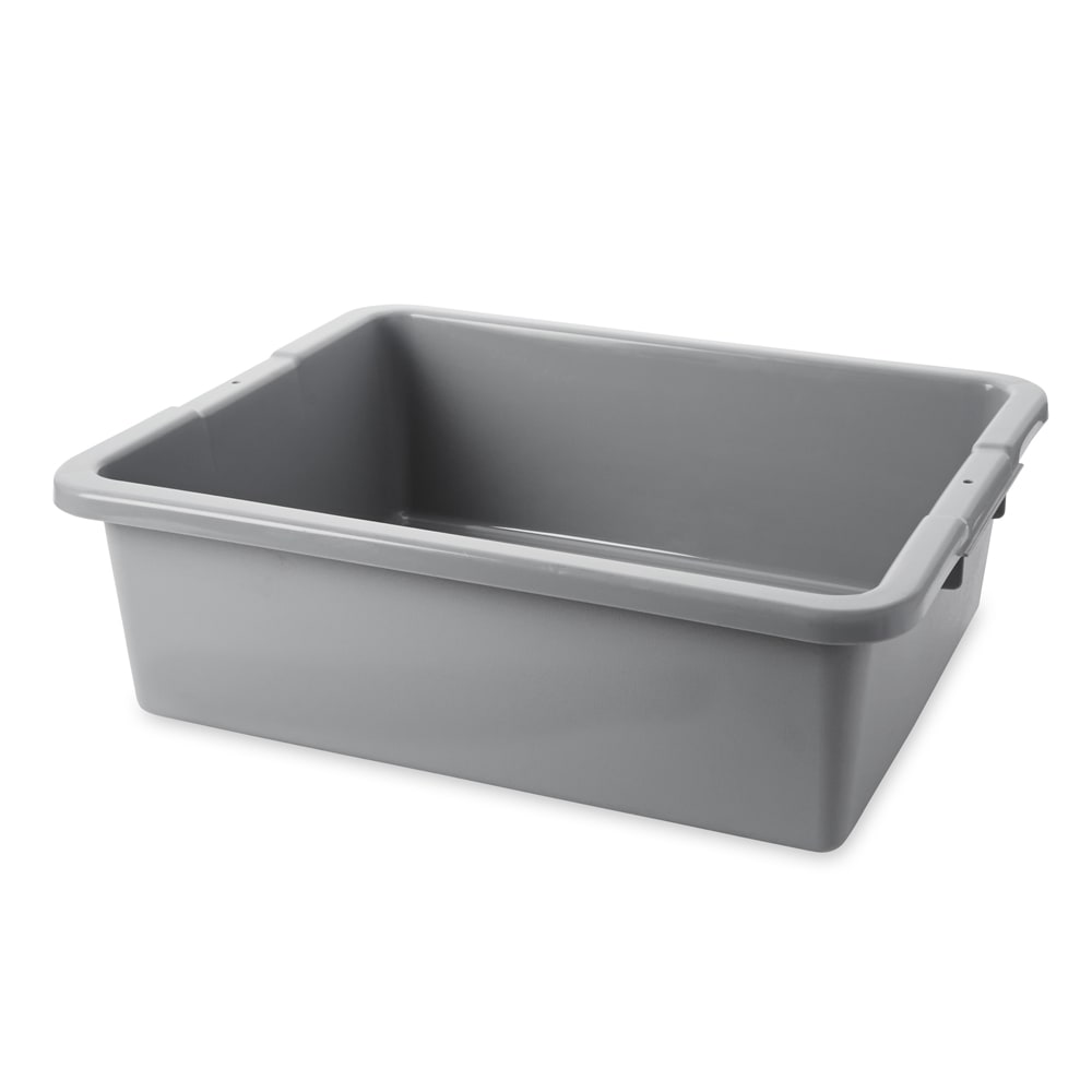 "Rubbermaid FG335100GRAY 7 gal Bus/Utility Box - 21 1/2x17 1/8x7"" Gray"