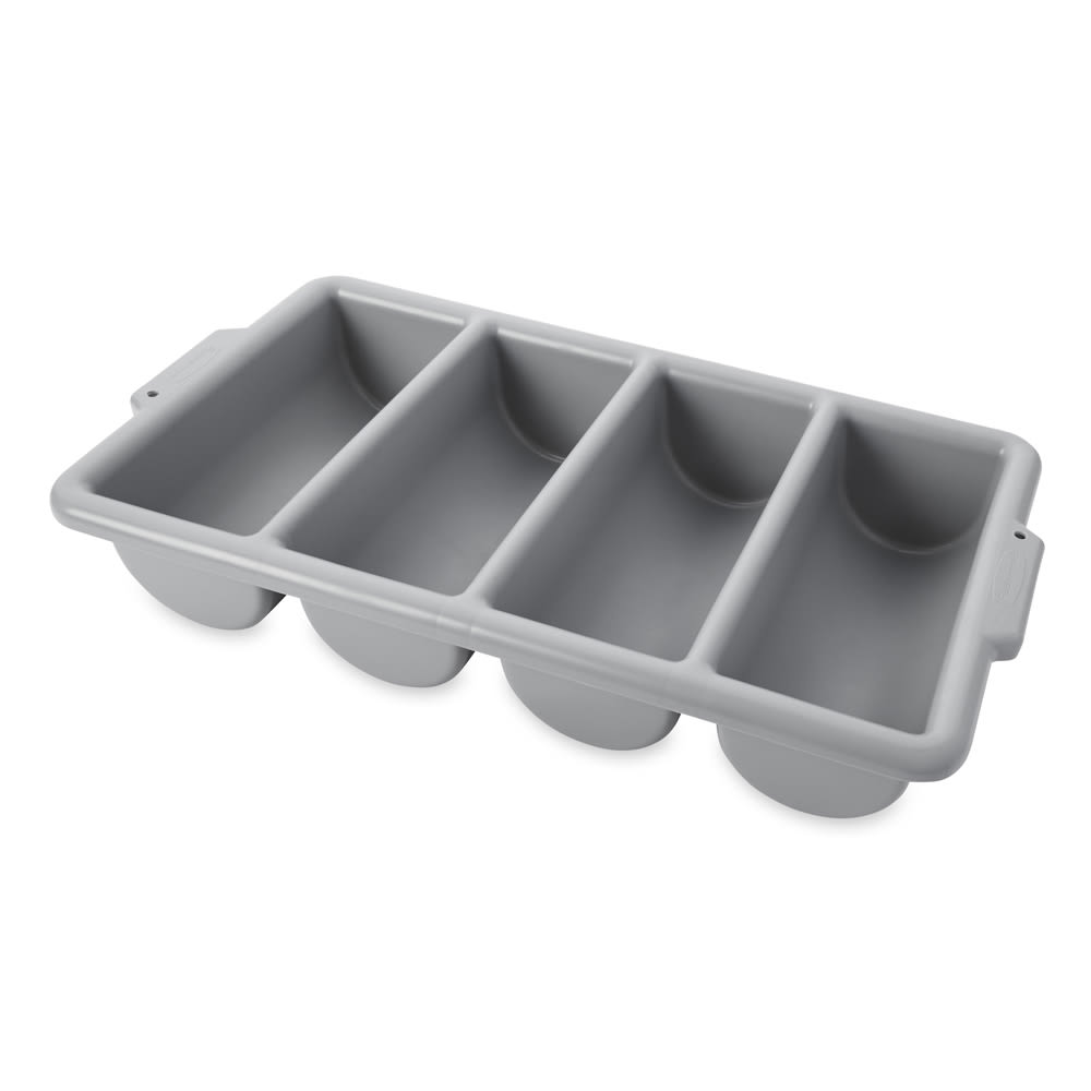Rubbermaid FG336200GRAY 4 Compartment Cutlery Bin, Gray