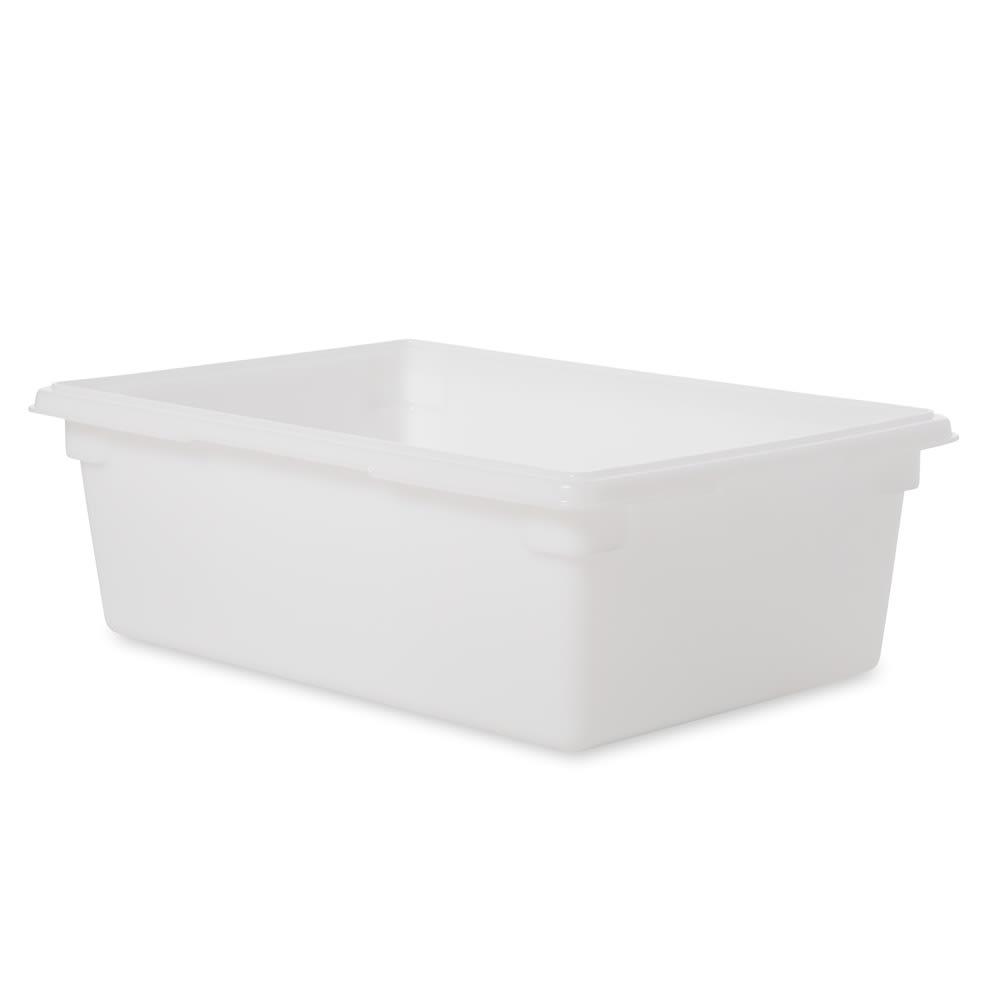 """Rubbermaid FG350000WHT 12-1/2-gal Food/Tote Box - 26x18x9"""" White Poly"""