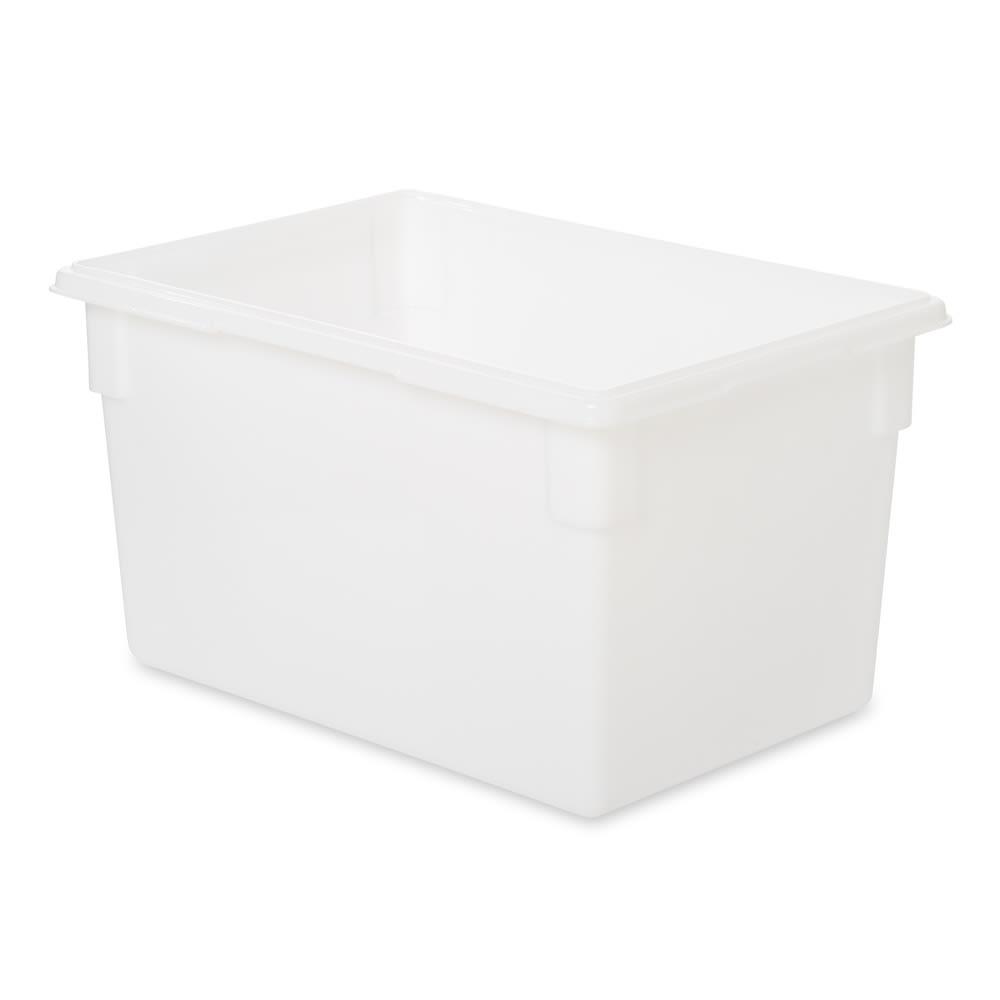 """Rubbermaid FG350100WHT 21-1/2-gal Food/Tote Box - 26x18x15"""" White Poly"""