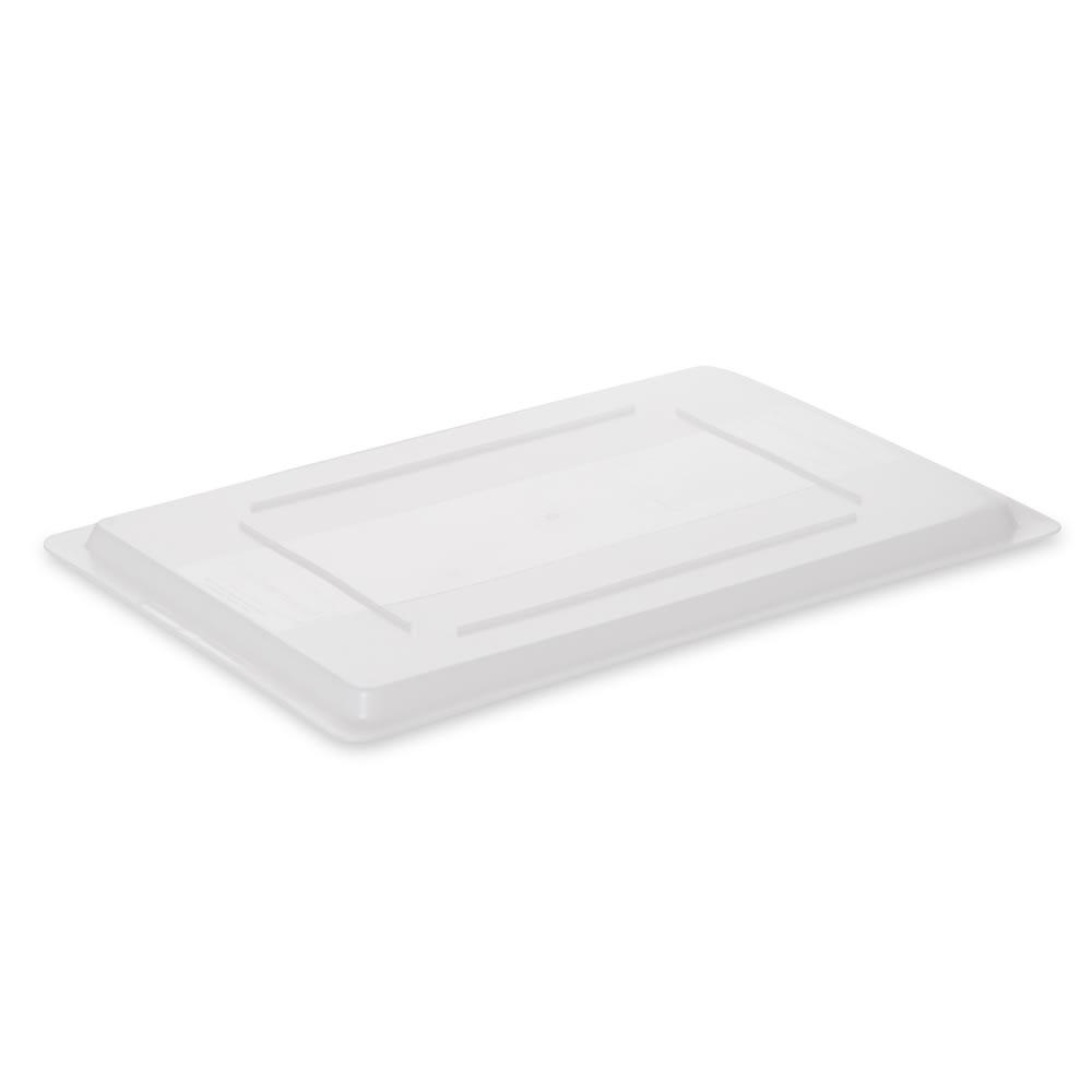 """Rubbermaid FG350200WHT Food/Tote Box Lid - 26x18"""" White Poly"""