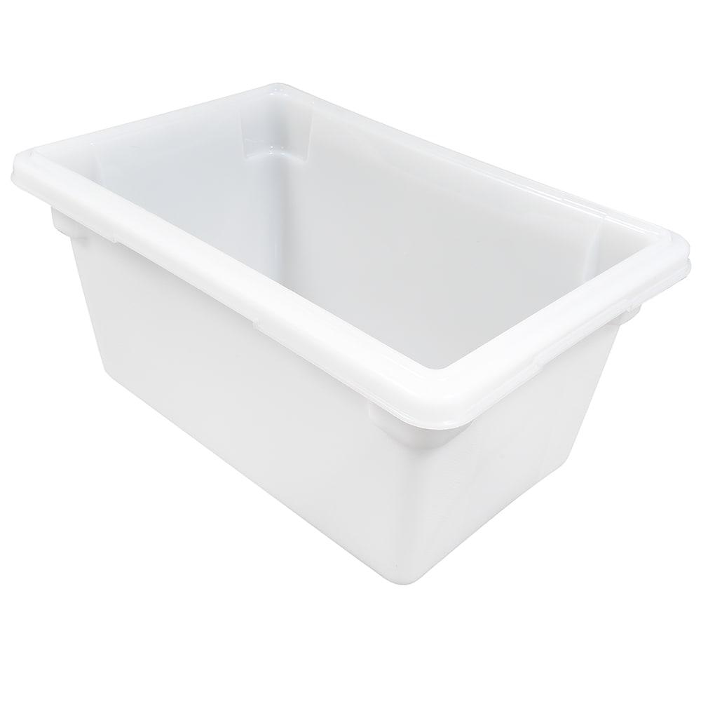 """Rubbermaid FG350400WHT 5-gal Food/Tote Box - 18x12x9"""" White Poly"""