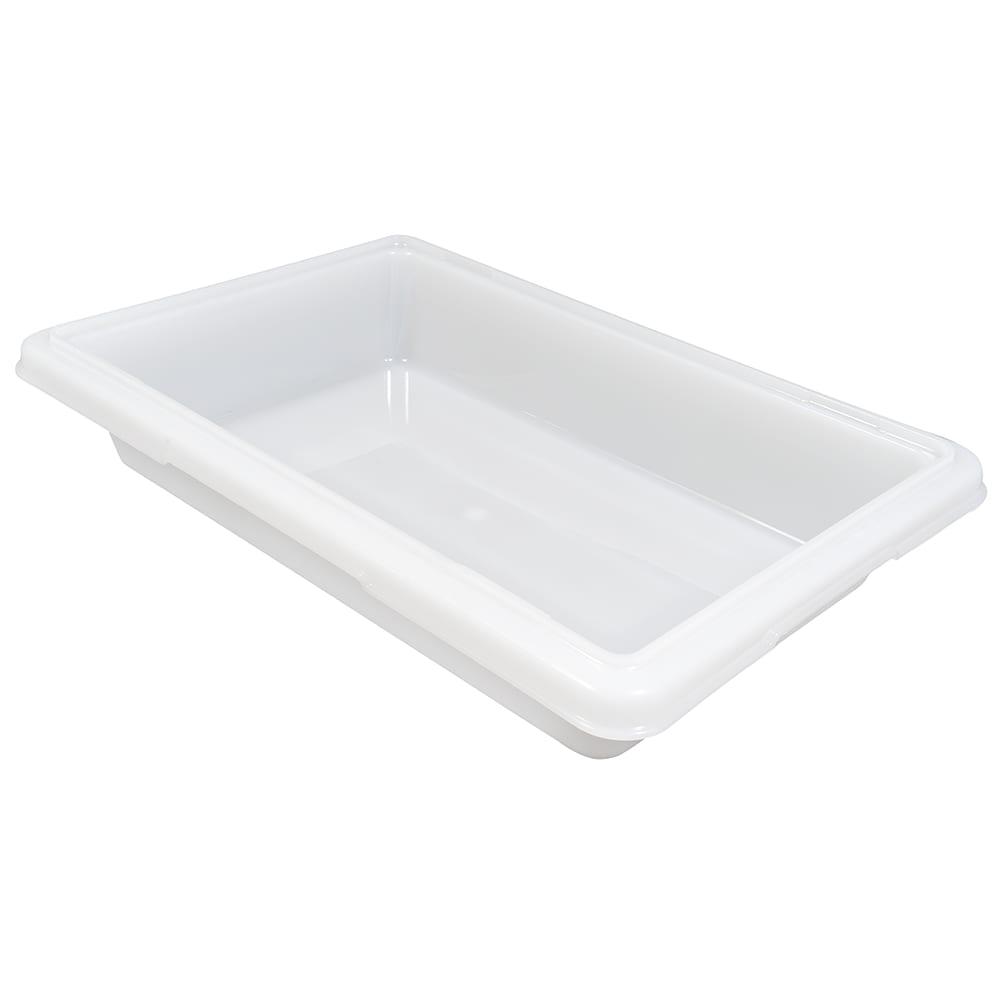 """Rubbermaid FG350700WHT 2-gal Food/Tote Box - 18x12x3-1/2"""" White Poly"""