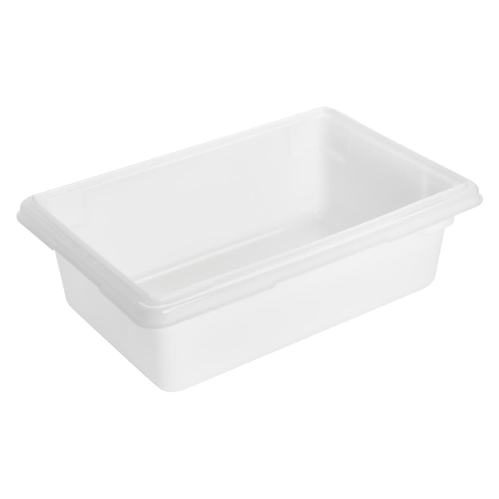 "Rubbermaid FG350900WHT 3 1/2 gal Food/Tote Box - 18x12x6"" White Poly"