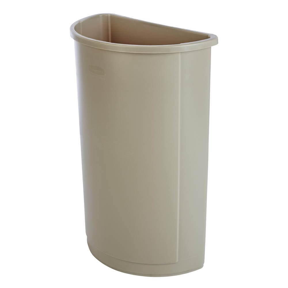 Rubbermaid Fg352000beig 21 Gallon Commercial Trash Can Plastic Half Round Food Rated