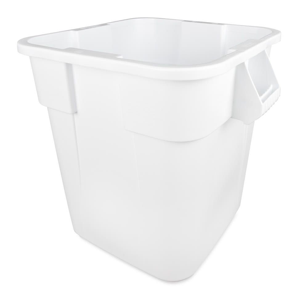 Rubbermaid FG352600WHT 28-gallon Brute Trash Can - Plastic, Square, Built-in Handles