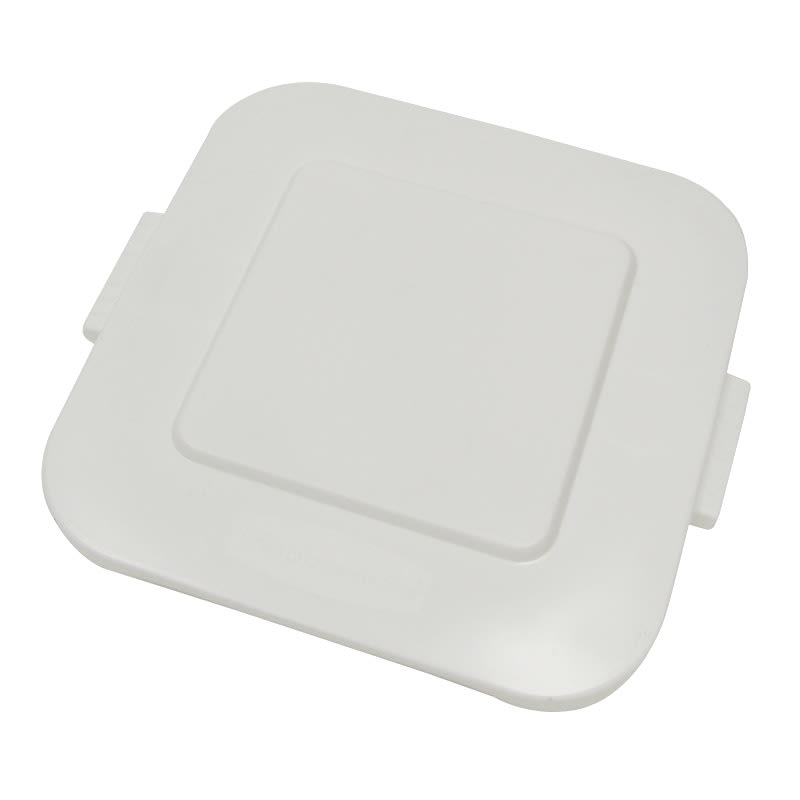 Rubbermaid FG352700WHT Square Flat Trash Can Lid - Plastic, White