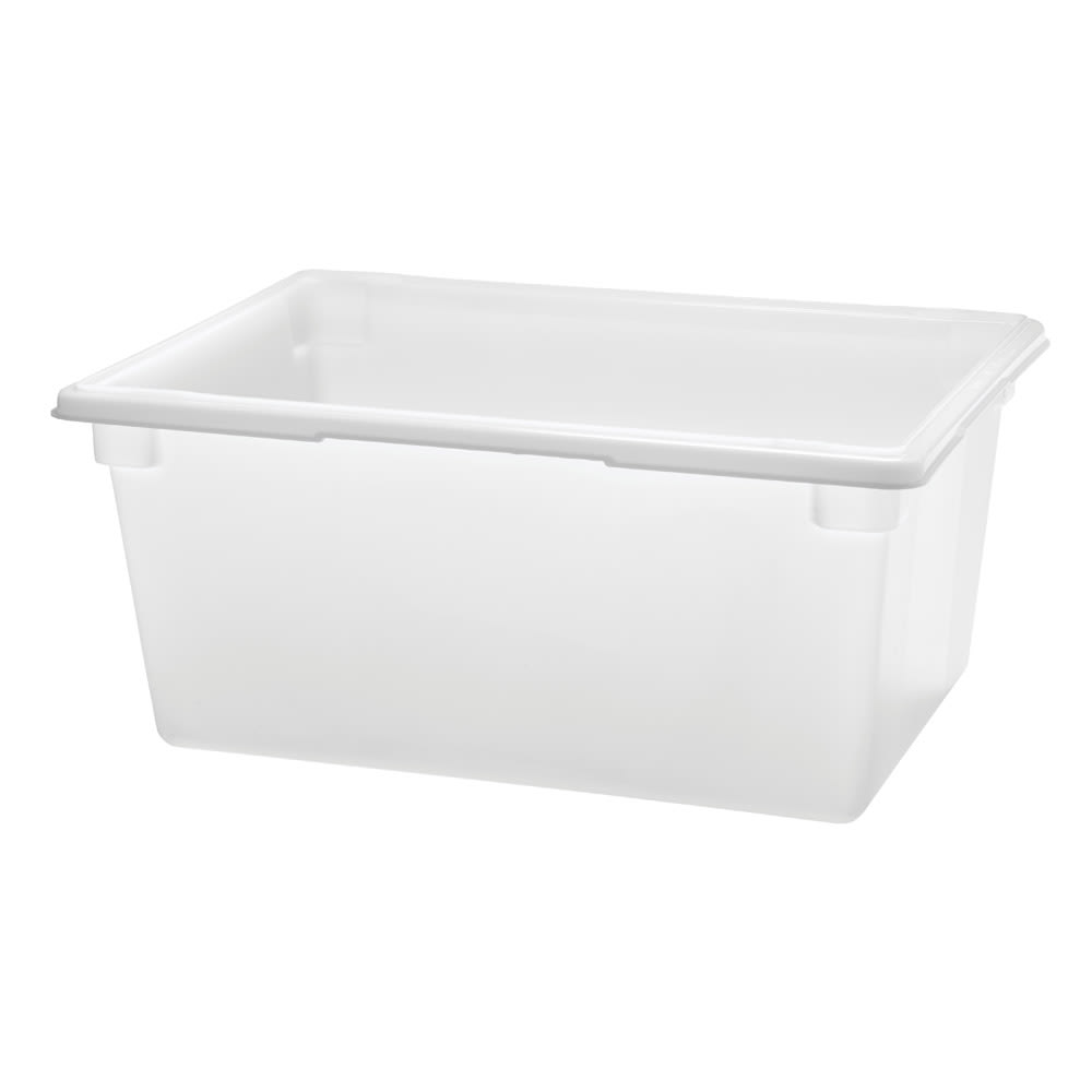 "Rubbermaid FG352800WHT 16 5/8 gal Food/Tote Box - 26x18x12"" White Poly"
