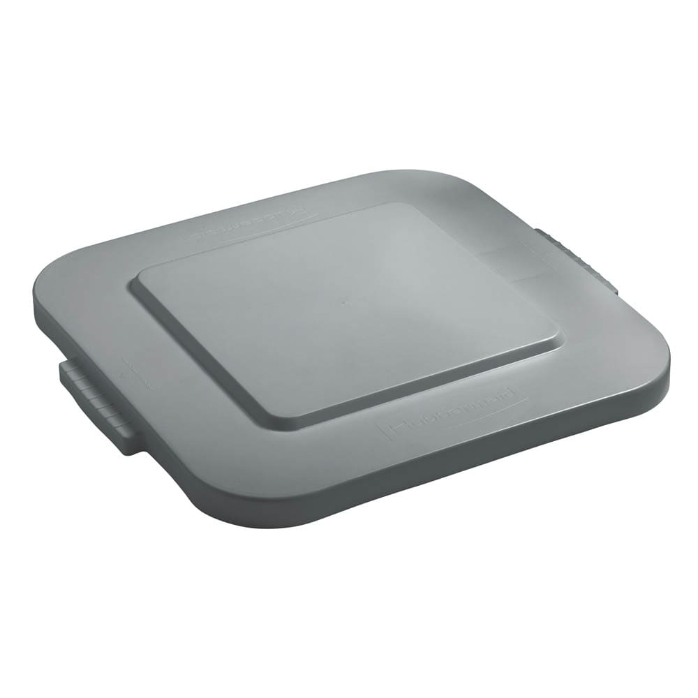Rubbermaid FG353900GRAY Square Flat Trash Can Lid - Plastic, Gray