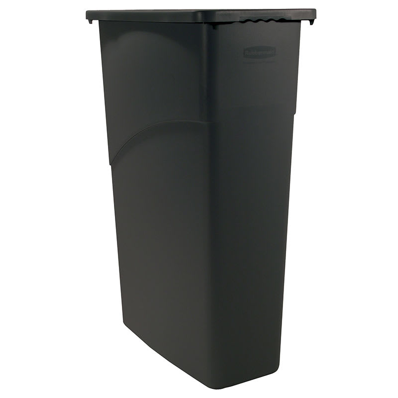 Rubbermaid FG354000BLA 23-gal Slim Jim Waste Container - Black