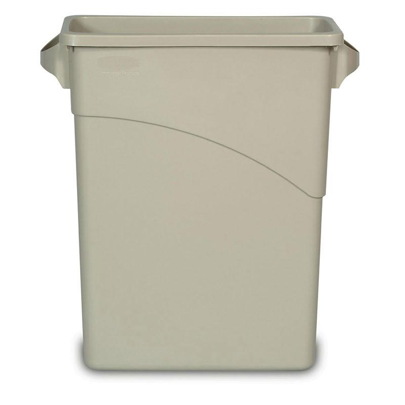 Rubbermaid FG354100BEIG 16-gal Slim Jim Waste Container - Beige