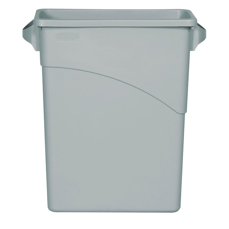 Rubbermaid FG354100LGRAY 16-gal Slim Jim Waste Container - Light Gray