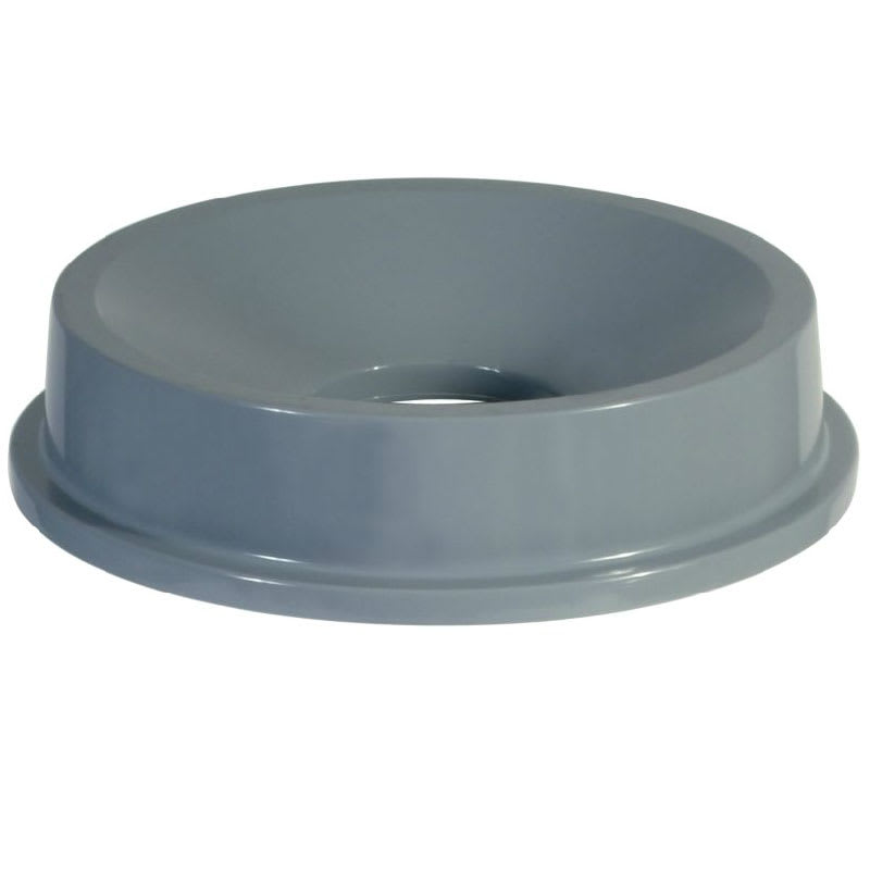 Rubbermaid FG354300GRAY Round Funnel Trash Can Lid - Plastic, Gray