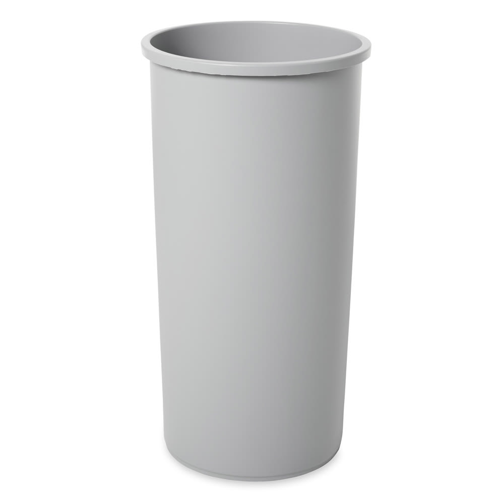 Rubbermaid FG356400GRAY 50 gal Square Rigid Trash Can Liner, Plastic - Gray