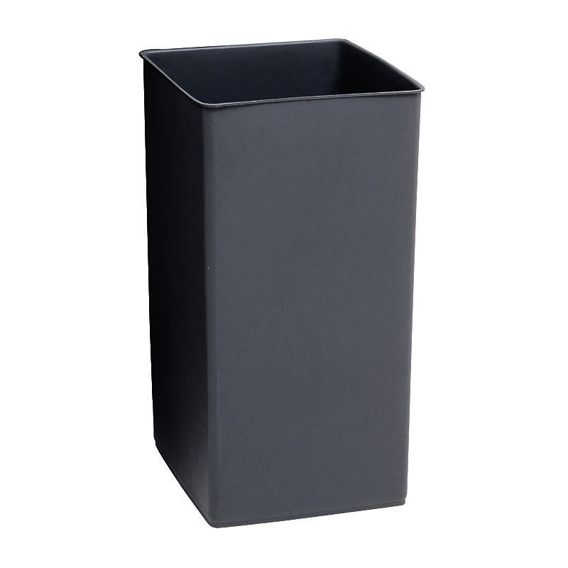 Rubbermaid FG356700GRAY 35.5-gal Square RigidTrash Can Liner, Plastic - Gray