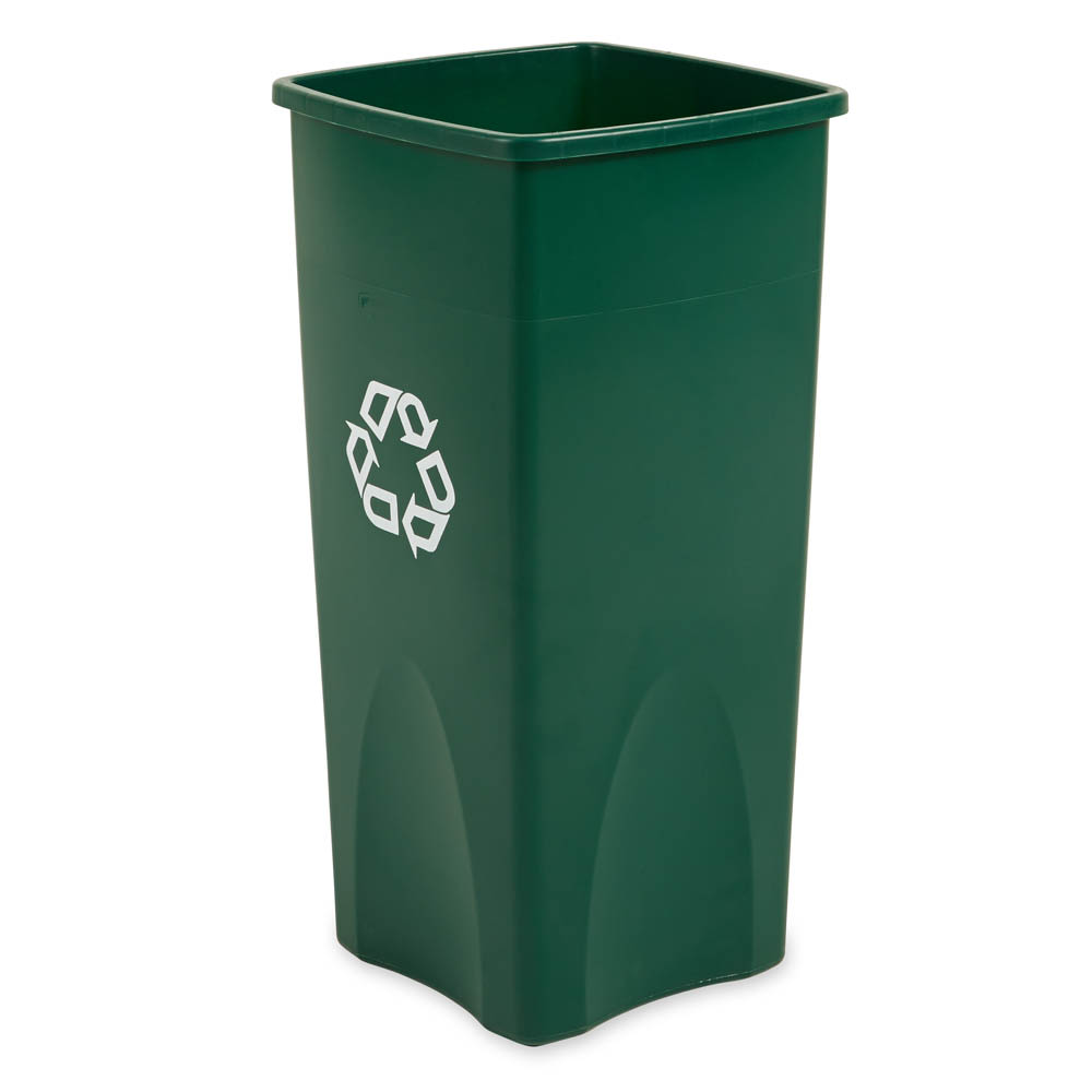 Rubbermaid FG356907GRN 23 gal Multiple Material Recycle Bin - Indoor /Outdoor