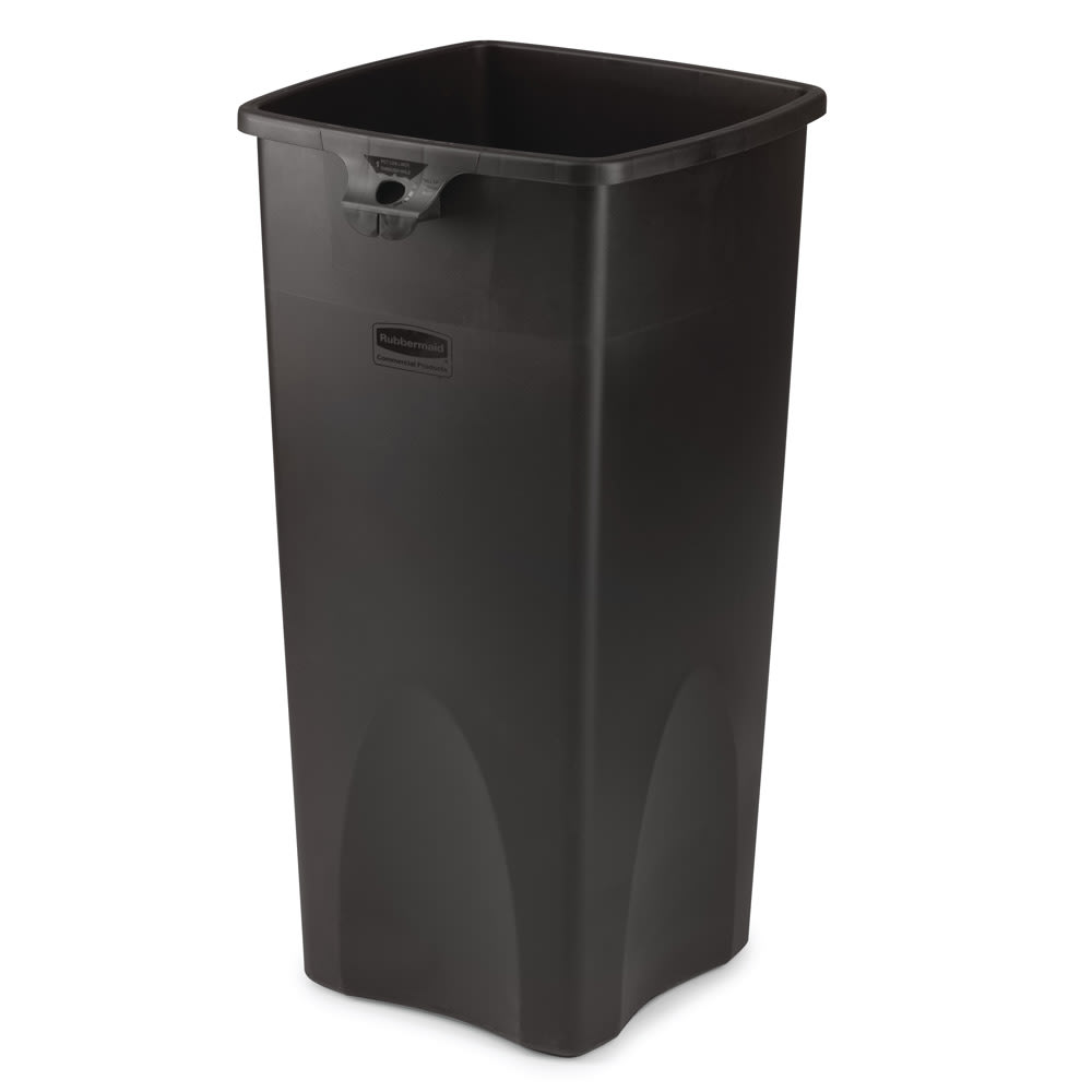 Rubbermaid FG356988BLA 23 gallon Commercial Trash Can - Plastic, Square, Food Rated
