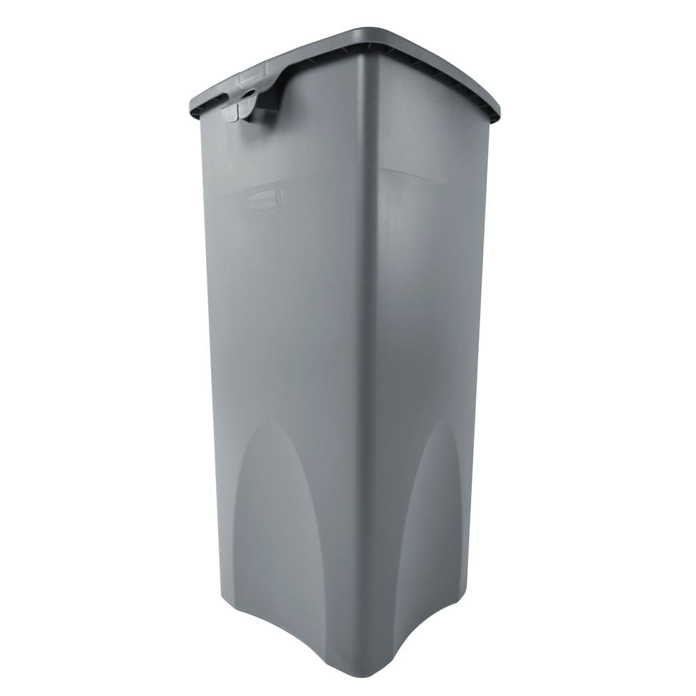 Rubbermaid FG356988GRAY 23 gallon Commercial Trash Can - Plastic, Square, Food Rated