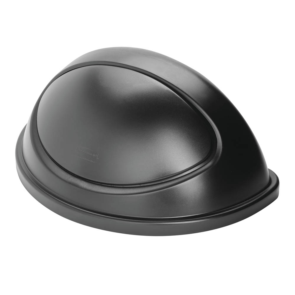 Rubbermaid FG362000BLA Half Round Dome Trash Can Lid - Plastic, Black