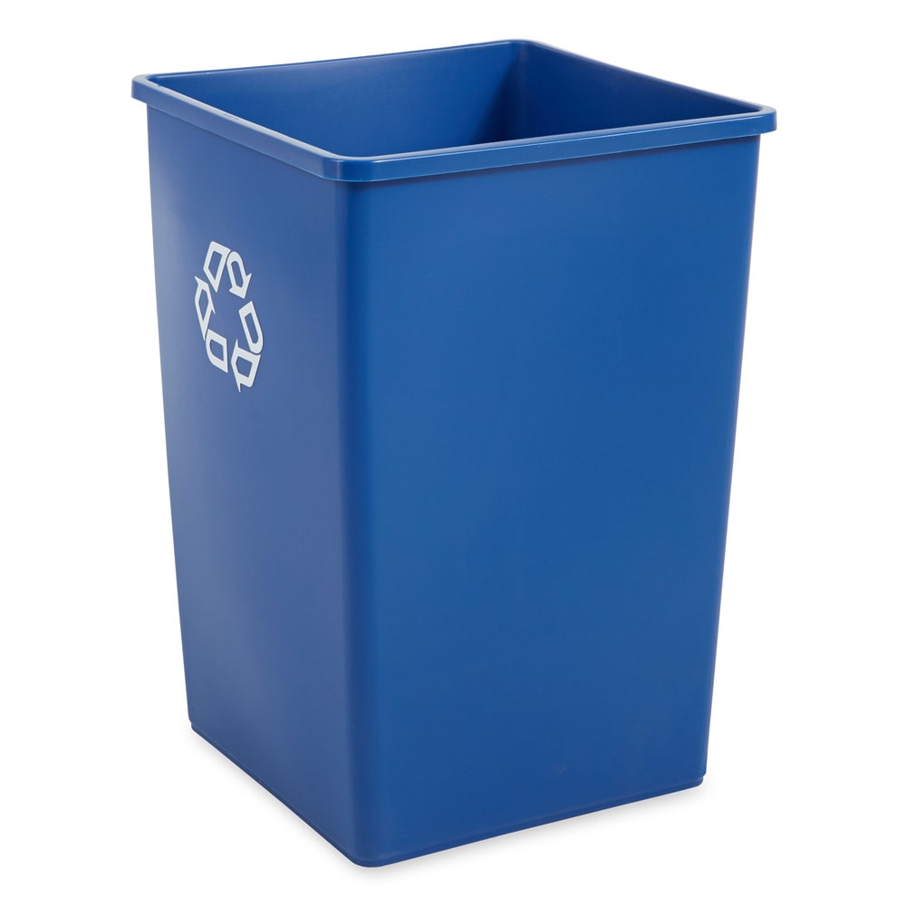 Rubbermaid FG395873BLUE 35-gal Multiple Material Recycle Bin - Indoor