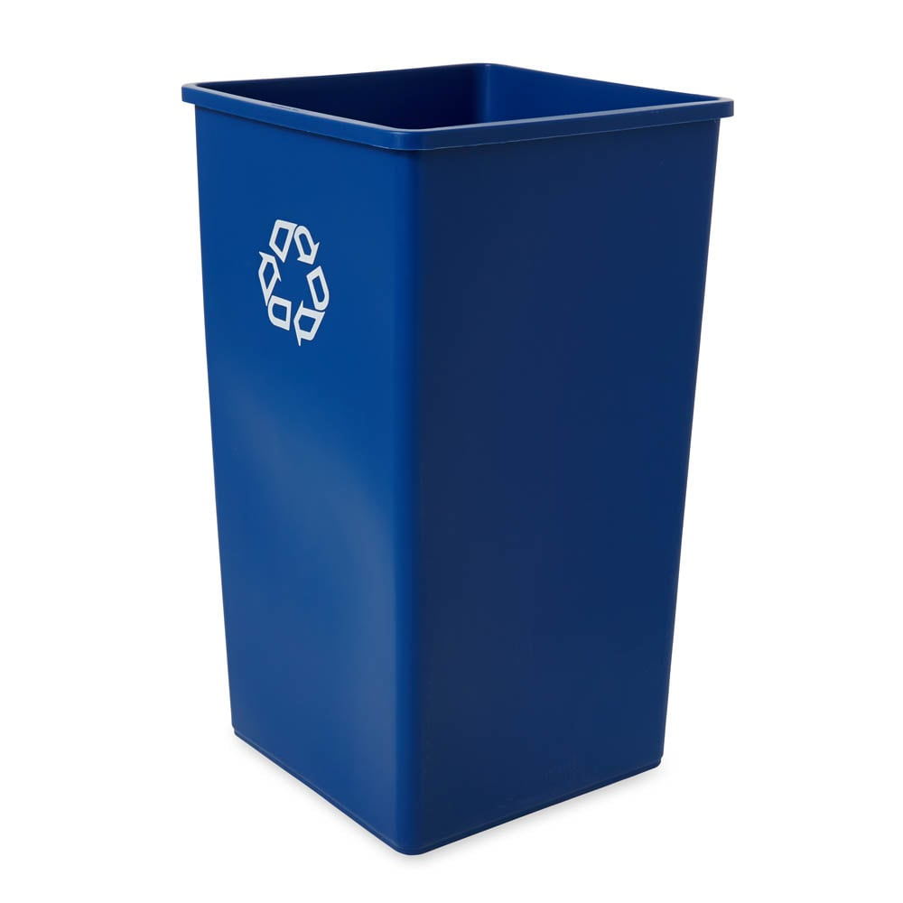 Rubbermaid FG395973BLUE 50-gal Multiple Material Recycle Bin - Indoor
