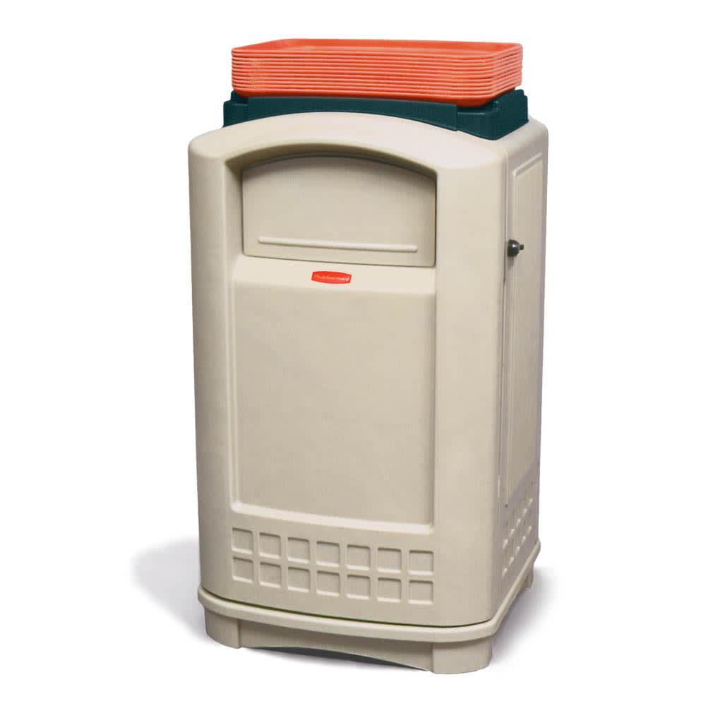 Rubbermaid FG396300BEIG 50-gal Indoor/Outdoor Decorative Trash Can - Plastic, Beige