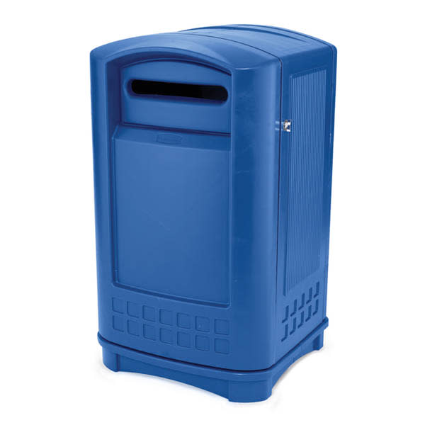 Rubbermaid FG396973BLUE 50 gal Paper Recycle Bin - Outdoor