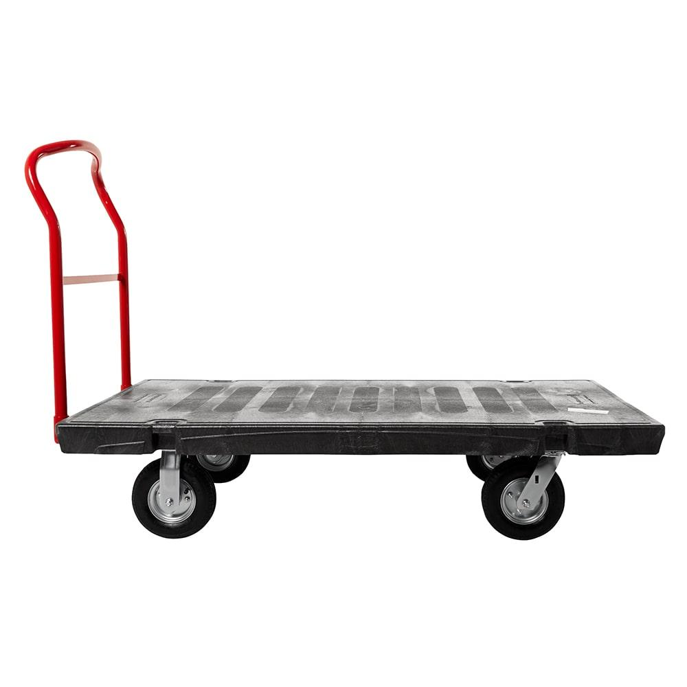 """Rubbermaid FG447100BLA 2500 lb Platform Truck w/ Tie Downs, 62""""L x 31.7""""W"""