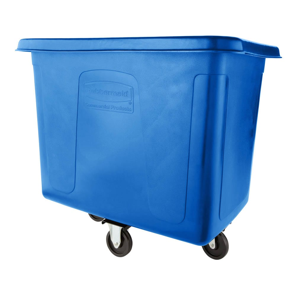 Rubbermaid FG461600DBLUE .6 cu yd Trash Cart w/ 500 lb Capacity, Blue