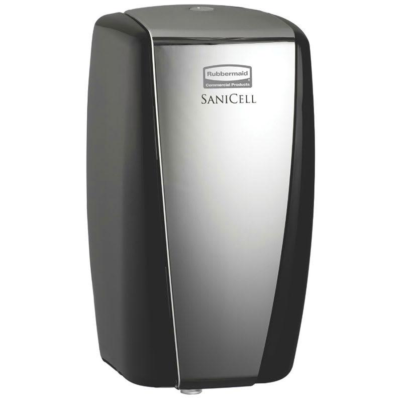 "Rubbermaid 4870488 SaniCell Wall Service Dispenser - 3x5-1/5x7-3/5"" Black/Chrome"