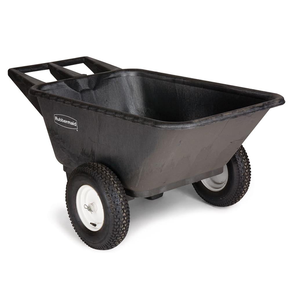 Rubbermaid FG564000BLA .28 cu yd Trash Cart w/ 300 lb Capacity, Black