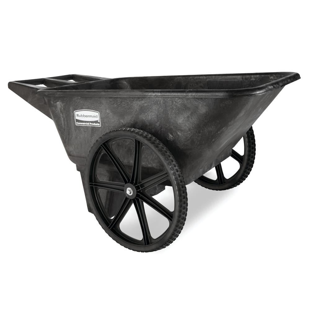 Rubbermaid FG564200BLA .28-cu yd Trash Cart w/ 300-lb Capacity, Black