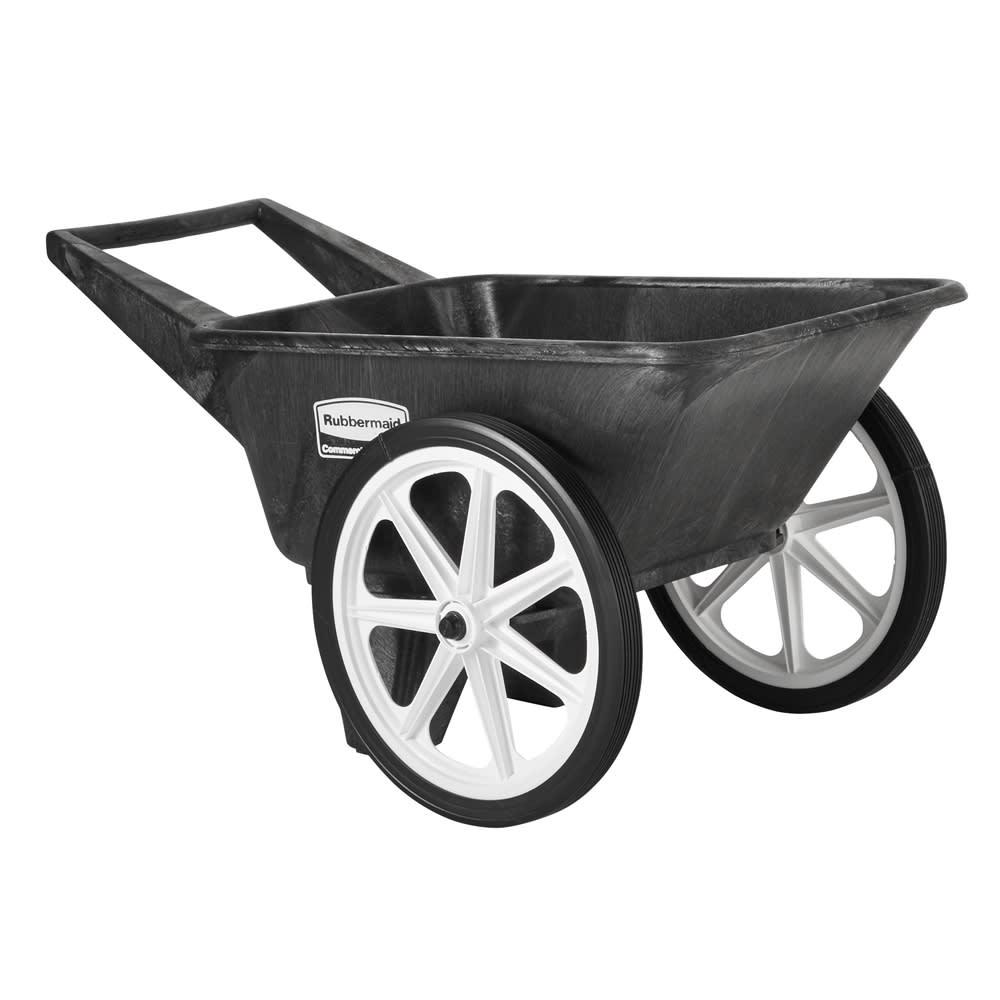 Rubbermaid FG565461BLA .13-cu yd Trash Cart w/ 200-lb Capacity, Black