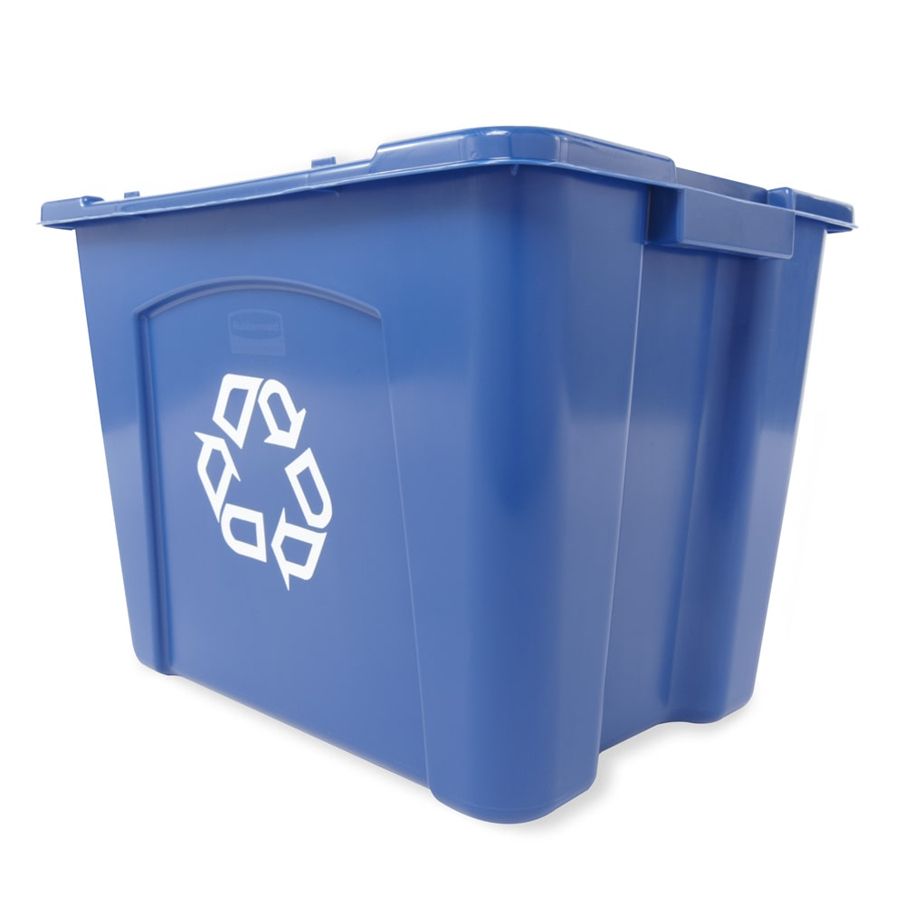 Rubbermaid FG571473BLUE 14 gal Multiple Material Recycle Bin - Indoor