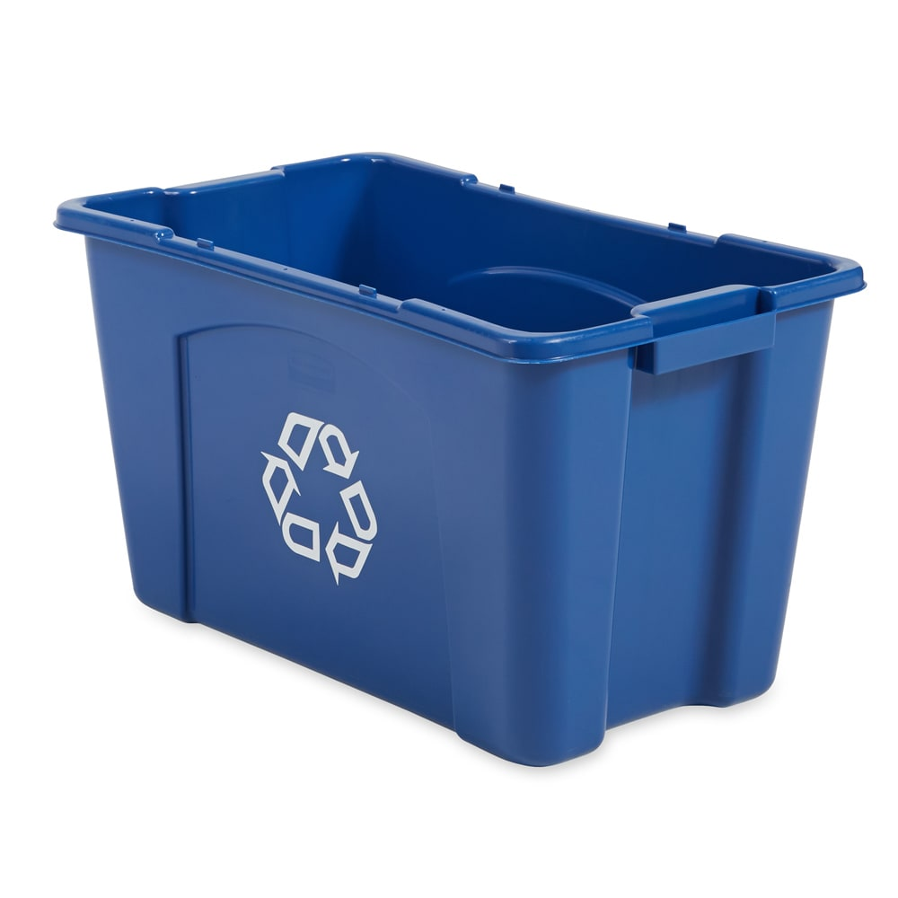 Rubbermaid FG571873BLUE 18-gal Multiple Material Recycle Bin - Indoor