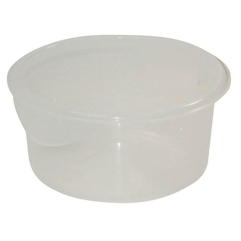 Rubbermaid FG572024CLR 2 qt Round Storage Container Clear Poly