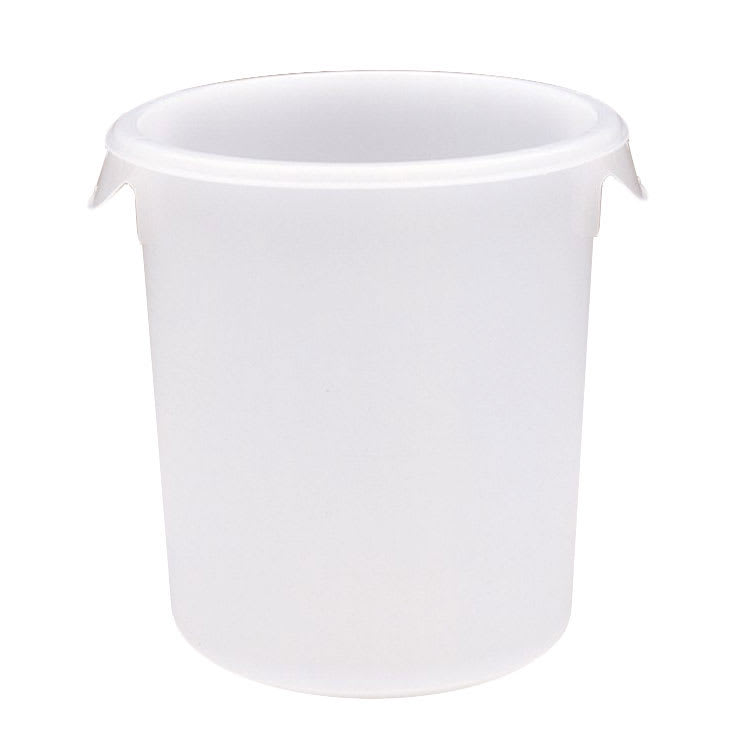 Rubbermaid FG572100WHT 4 qt Round Storage Container - White Poly