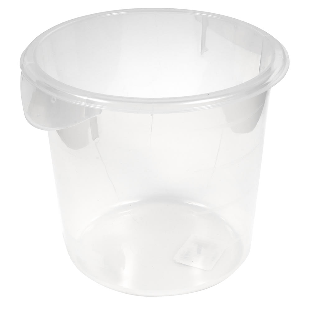 Rubbermaid FG572124CLR 4 qt Round Storage Container Clear Poly