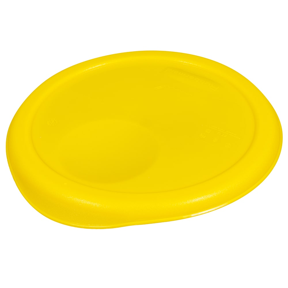 "Rubbermaid FG572200YEL 8-3/4"" Round Storage Container Lid - Yellow Poly"